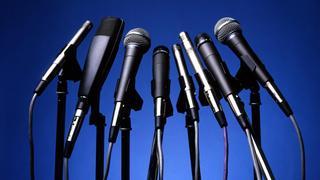 *konference, kongres, rozhovor, mikrofony