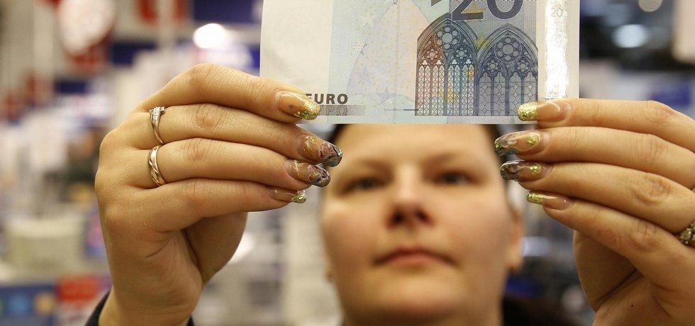 eurové bankovky