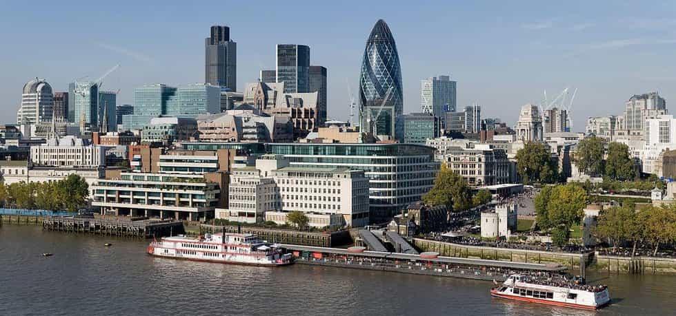 Panorama čtvrti City of London