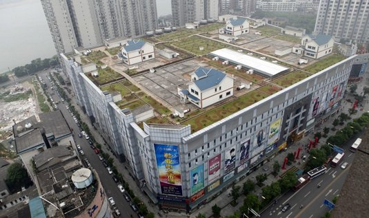 Domy na střeše v čínské metropoli Ču-čou