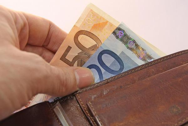 peníze, peněženka, euro
