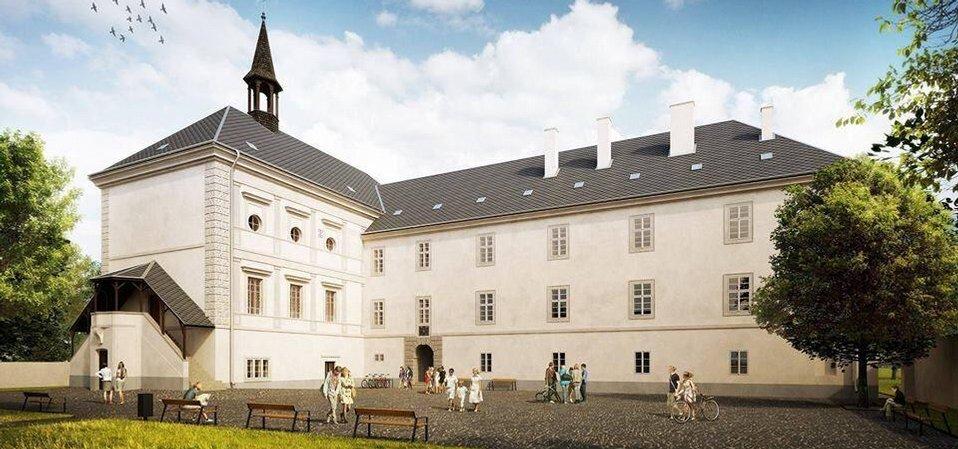 Zámek Svijany - vizualizace po rekonstrukci