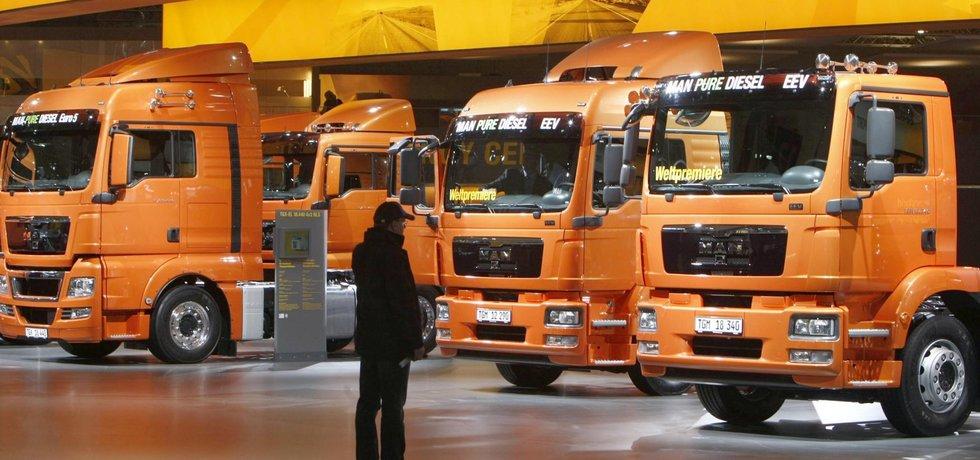 Kamiony MAN (Zdroj: ČTK)