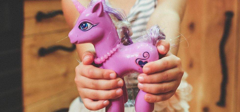 Růžová hračka - ilustrační foto