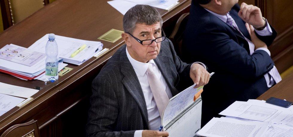Ministr financí Andrej Babiš státní rozpočet ve Sněmovně úspěšně obhájil