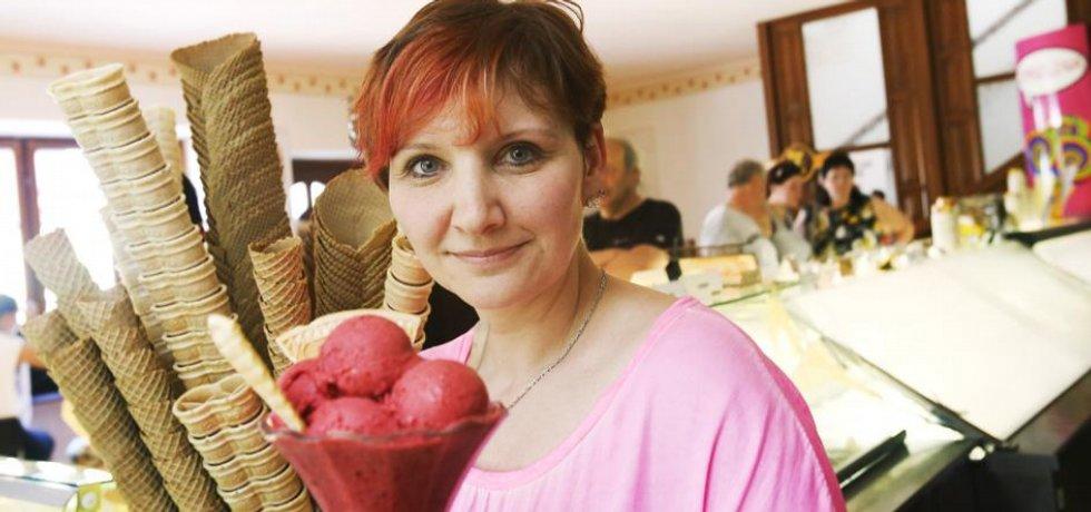 Ivana Jablonovská, spolumajitelka vyhlášeného zmrzlinářství, které se pyšní netradičními příchutěmi.