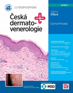 Obálka Česká dermatovenerologie