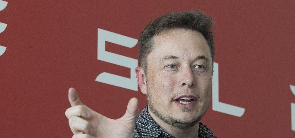 Zakladatel a CEO Tesla Motors Elon Musk