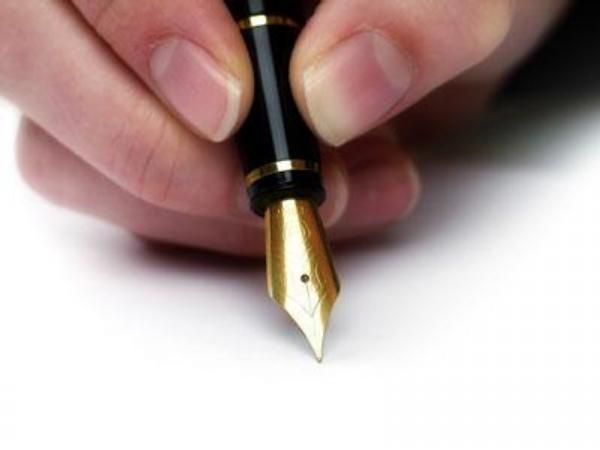 pero, podpis