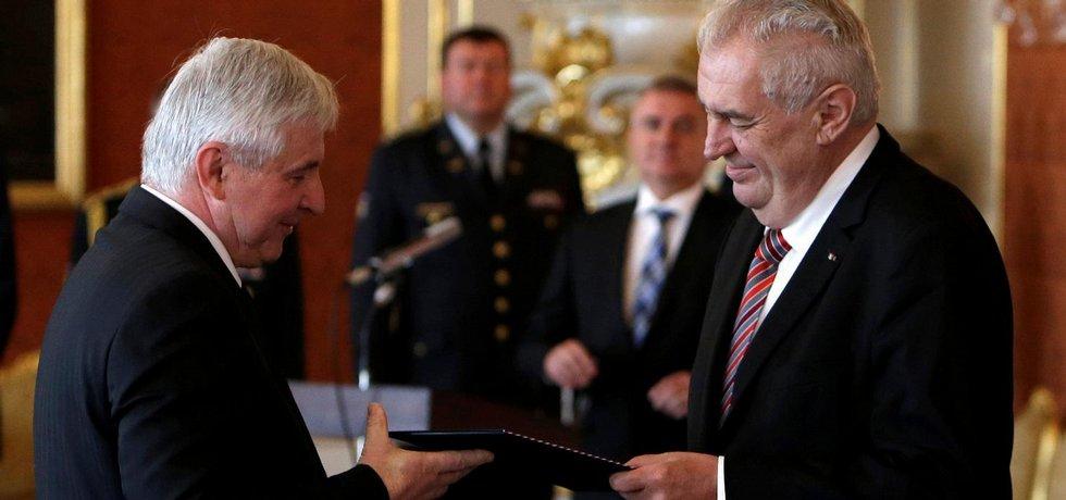 Jiří Rusnok (vlevo) a Miloš Zeman