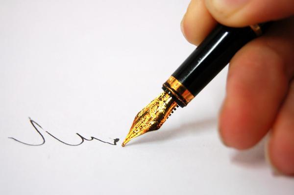 podpis, dokumenty, smlouva