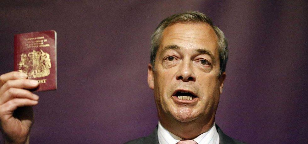 Nigel Farage, jeden z nejvýraznějších propagátorů brexitu