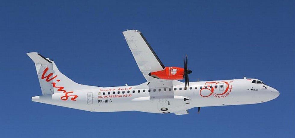 50. ATR 72-600 dodaný letecké společnosti Wings Air (Indonésie)