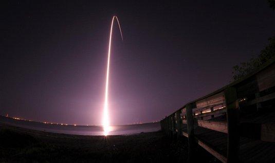 Start rakety Delta II 6.března 2009. Na oběžnou dráhu nesla teleskop Kepler