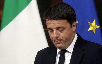 Matteo Renzi při oznámení své rezignace
