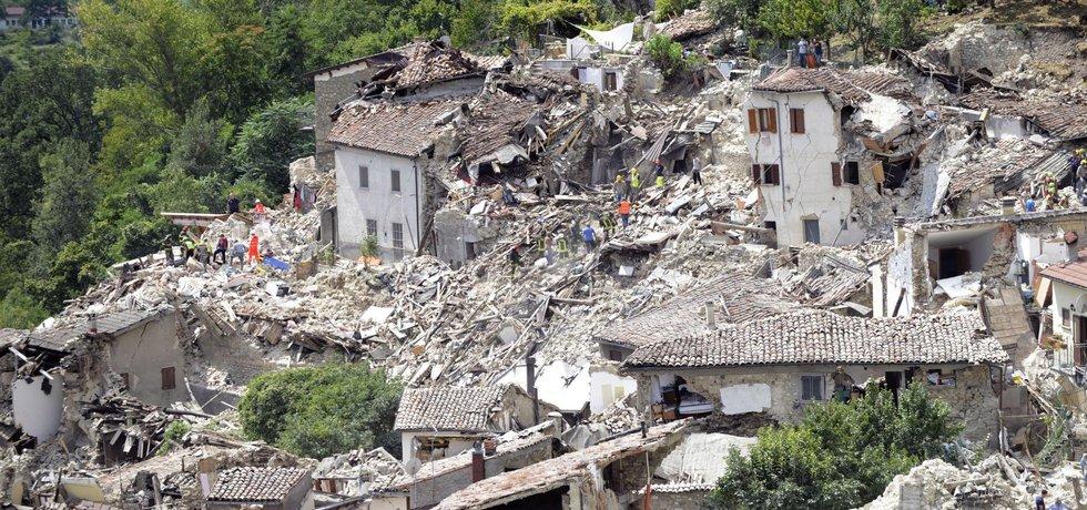 Zemětřesení v Itálii (Zdroj: ČTK)