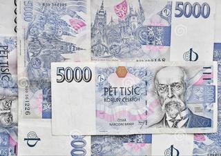 pět tisíc, peníze, pětitisícikoruna, bankovka