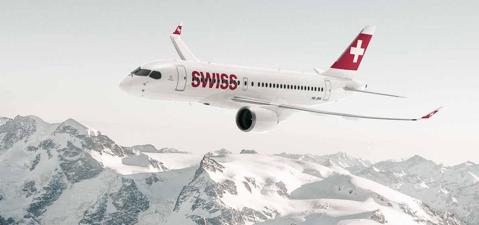 Bombardier CS100 společnosti Swiss