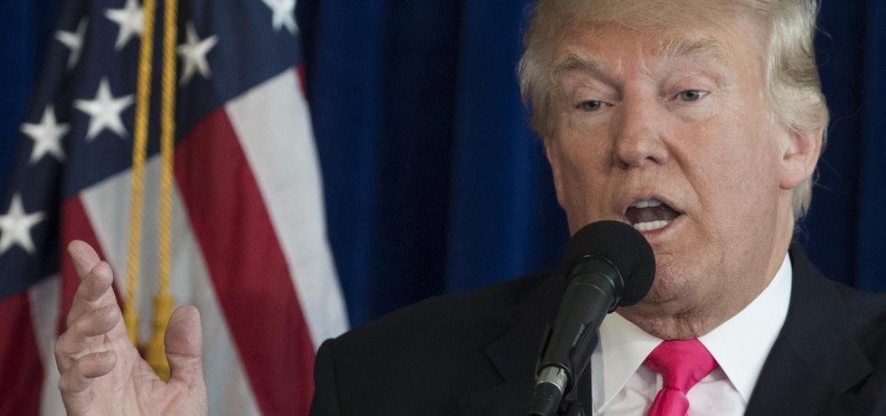 Republikánský kandidát na prezidenta USA Donald Trump