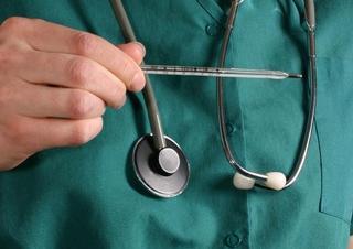 sestra, lékařka, nemocnice, teploměr, zdravotnictví