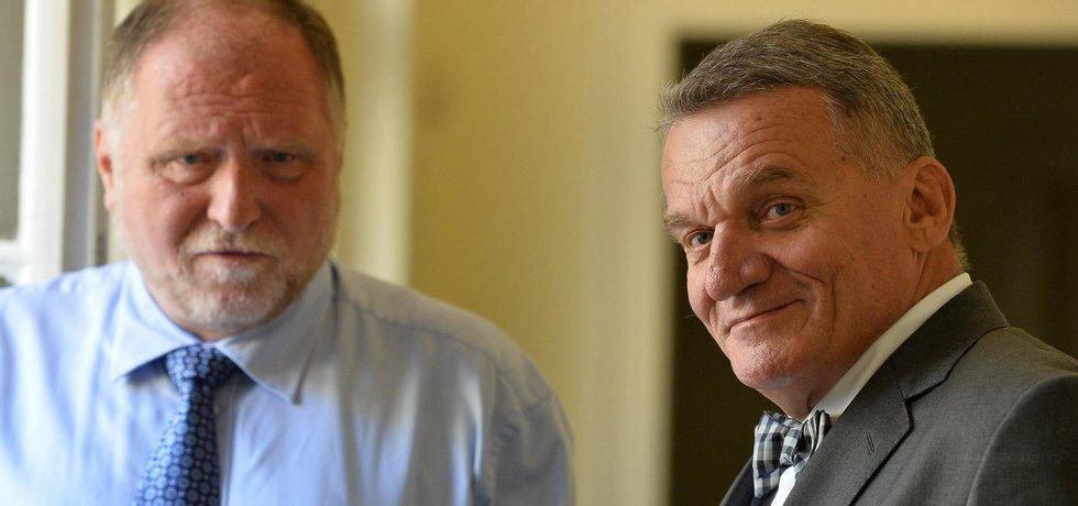 Bohuslav Svoboda se svým advokátem Tomášem Sokolem