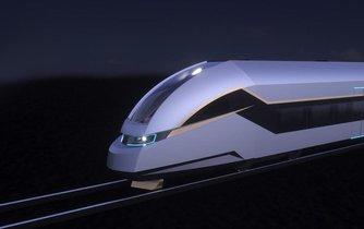 Vizualizace nového vlaku od čínské firmy CRRC pro českého dopravce LEO Express