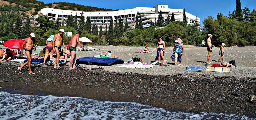 Pláž na Krymu