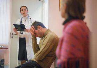 lékařka, pacienti, čekárna, praktik