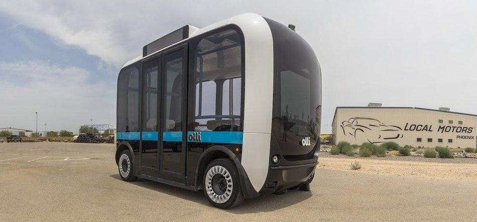 Olli, autonomní elektrický minibus společnosti Local Motors (Zdroj: Local Motors)