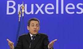 Nicolas Sarkozy na summitu v Bruselu