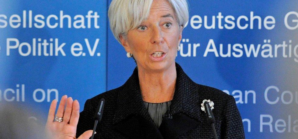 Předsedkyně MMF Christine Lagardeová