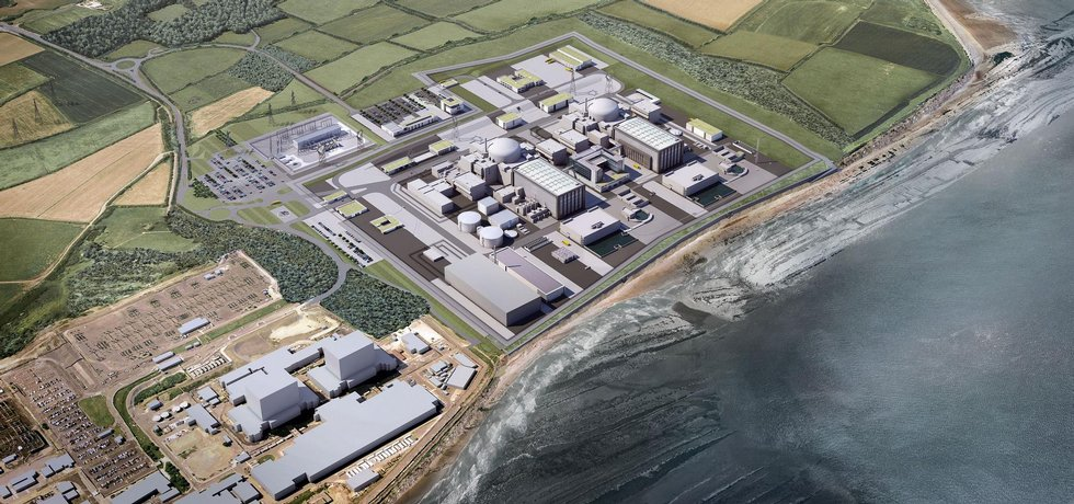 Vizualizace elektrárny Hinkley Point C