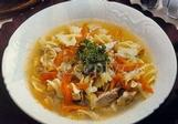 Výživná polévka z drůbežích prsíček
