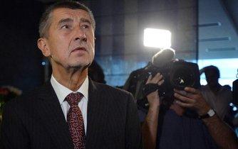 Andrej Babiš po krajských a senátních volbách 2016, které pro jeho hnutí ANO skončilo drtivým úspěchem.