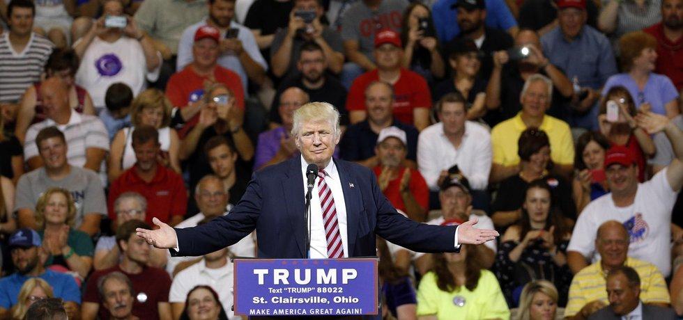 Donald Trump během své kampaně v Ohiu