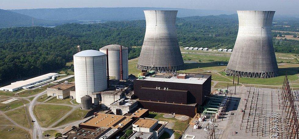 Nedostavěná jaderná elektrárna Bellefonte (Zdroj: Tennessee Valley Authority via Wikimedia Commons)