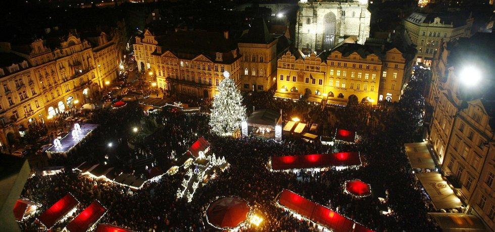 Vánoční trhy na Staroměstském náměstí