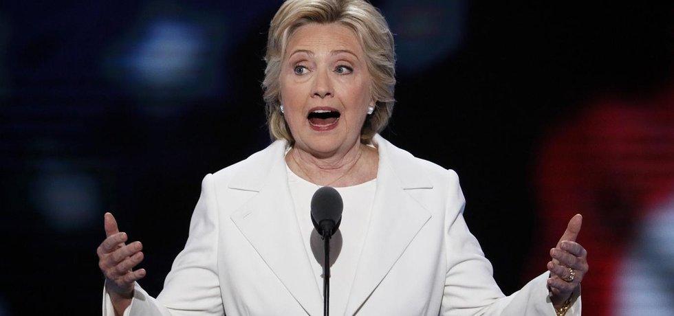 Kandidátka na prezidentku USA Hillary Clintonová
