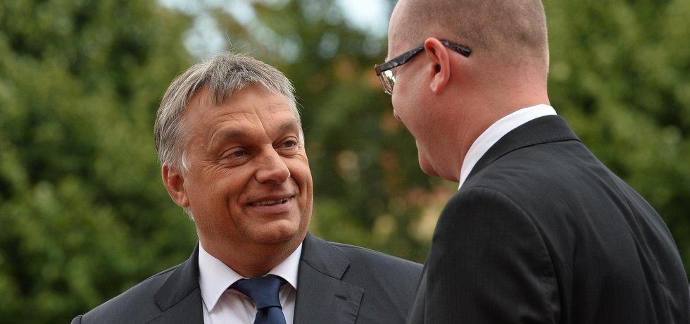 Bohuslav Sobotka a Viktor Orbán
