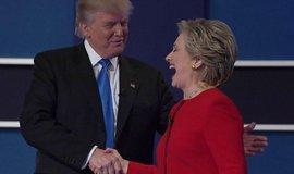 Donald Trump a Hillary Clintonová během svého prvního prezidentského klání.