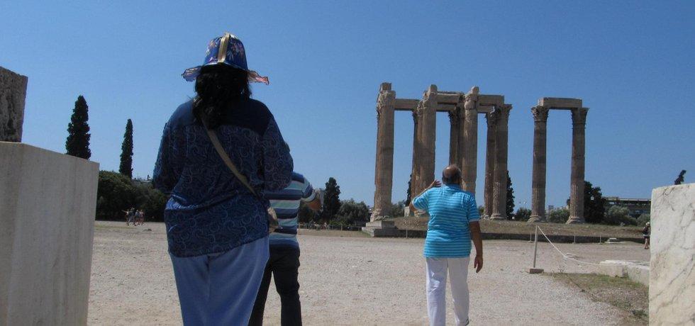 Turisté v Řecku