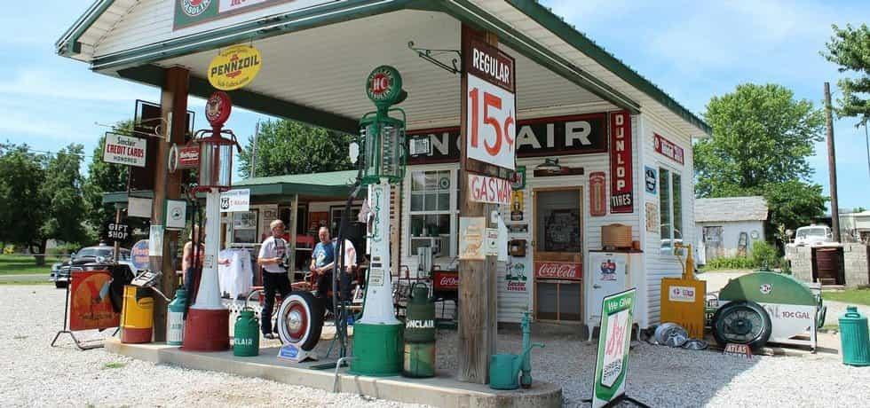 Benzínová stanice na Route 66