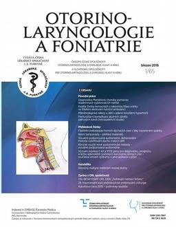 Obálka Otorinolaryngologie a foniatrie
