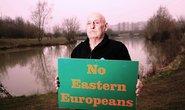 Majitel rybníku Eddie Whitehead nemá dobrou zkušenost s Východoevropany