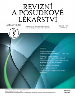 Obálka Revizní a posudkové lékařství