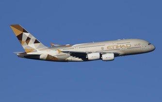 Stroj A380 aerolinek Etihad Airways