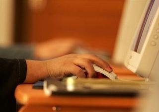 počítač, ruce