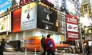 Obří reklamní panely instalované v centru New Yorku