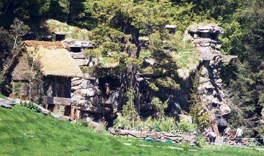 Středozemě, domov hobitů, vytvořený týmem Petera Jacksona na Novém Zélandu