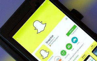 Aplikace Snapchat v chytrém telefonu